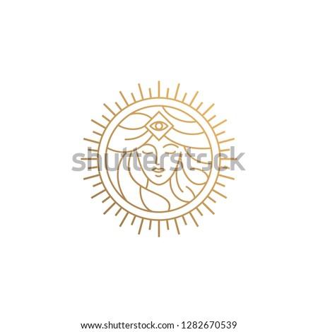 goddess line logo design Stock fotó ©