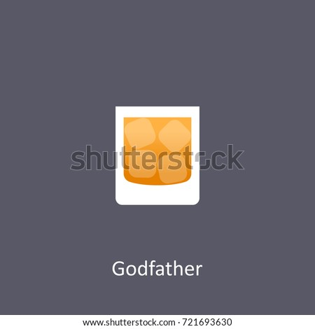godfather cocktail icon on dark
