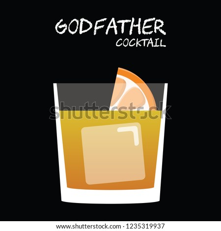 godfather cocktail illustration