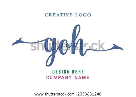 goh lettering logo is simple