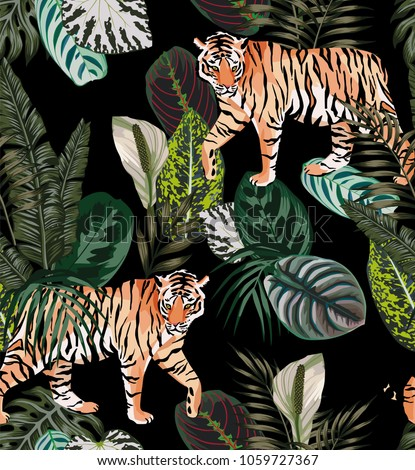 going exotic animal tiger in