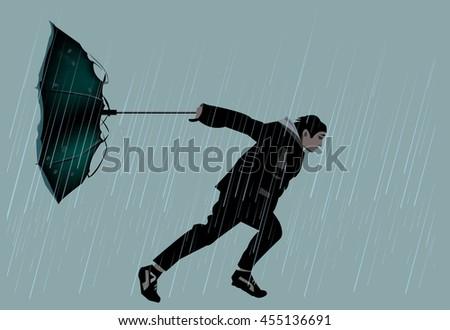 going through rain