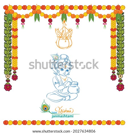 Gokulashtami hindu festival template for greeting card Foto stock ©