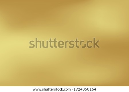 Gold abstract blurred gradient background. Vector illustration.