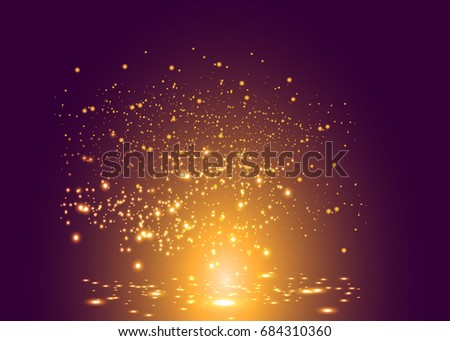 gold abstract glitter blinking