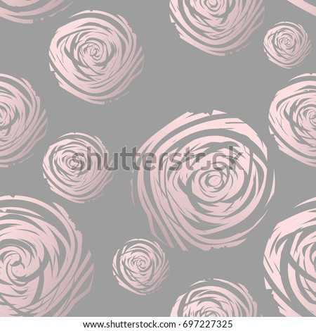 gold abstract roses on grey