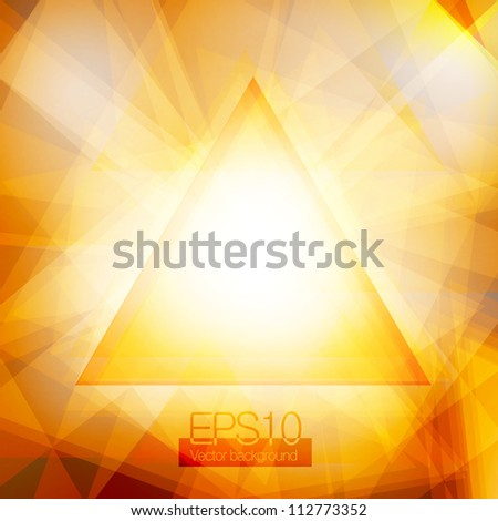 Gold abstract triangles