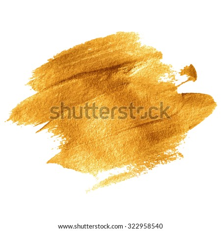 Gold acrylic paint. Vector illustration EPS 10