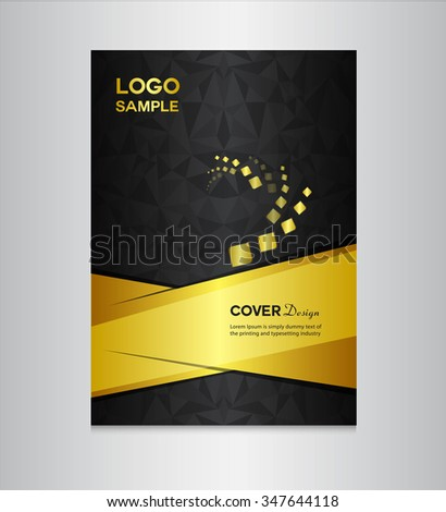 gold and black cover design