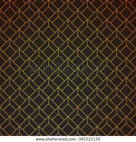 gold and black geometric retro