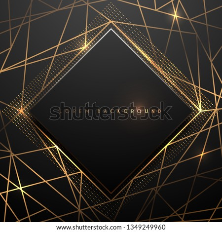 Gold and black polygonal luxury background