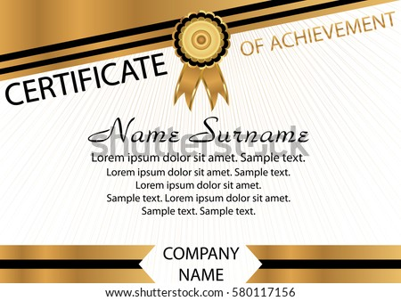 Premium Gold And Black Certificate Design Template Download Free