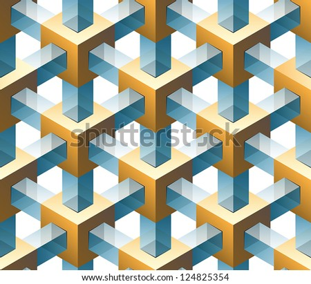 gold and glass seamless pattern