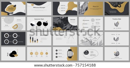 Gold and Grey elements for infographics on a white background. Presentation templates. Use in presentation, flyer and leaflet, corporate report, marketing, advertising, annual report, banner.