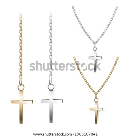 gold and silver cross on a
