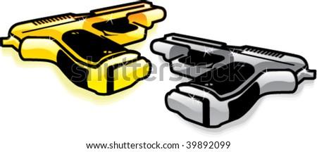 Gold and Silver Handguns