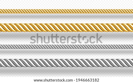gold and silver ropes  twisted