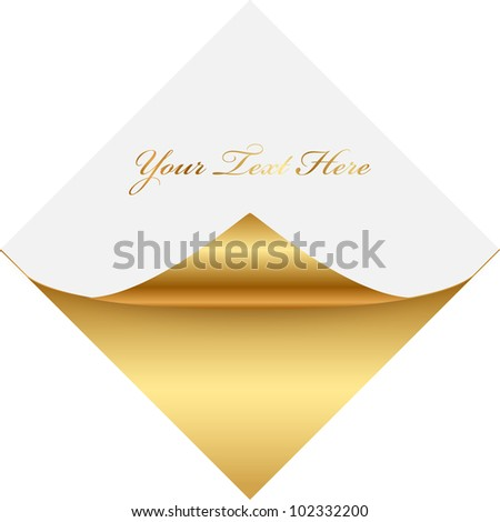 Gold and white note paper
