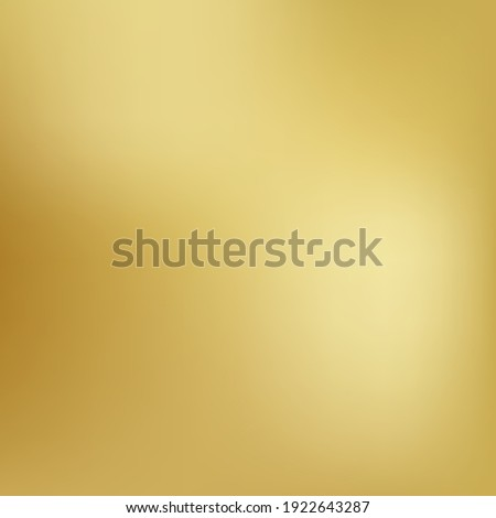 Gold background gradient foil vector yellow texture. Smooth gold gradient blur metallic