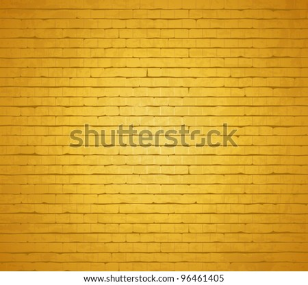 Gold background. vector brick wall.