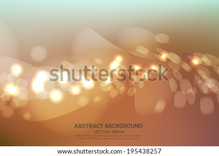 Gold background with bokeh effect. Vector EPS 10 illustration.