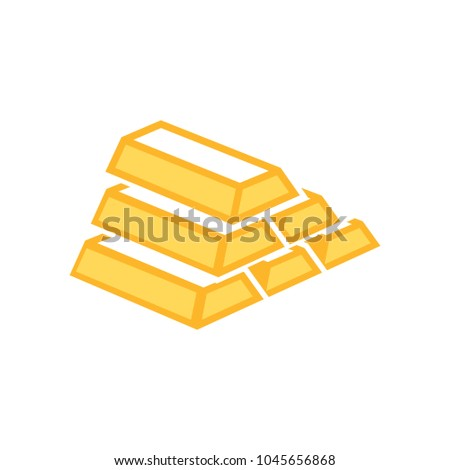 gold bar icon, golden bars, money symbol