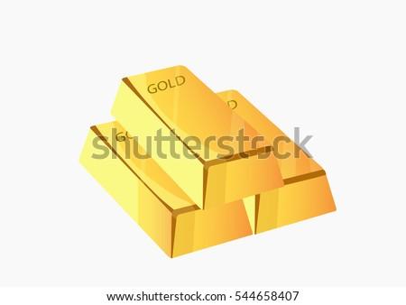 Gold bar vector illustration