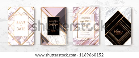 Gold, black, white marble template, artistic covers design, colorful texture, backgrounds. Trendy pattern, graphic poster, geometric brochure, cards. Vector illustration.