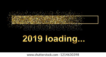 Gold Blaster Load Bar 2019. Expectation of the holiday – stock vector