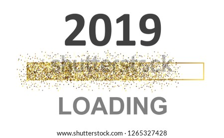 Gold Blaster Load Bar 2019. Expectation of the holiday – vector for stock #1265327428