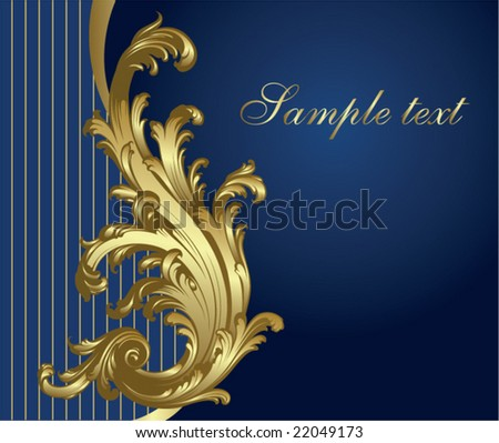 Gold-blue festive card