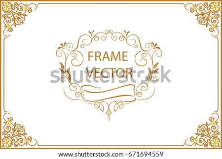 Certificate Template Or Diploma Design In Luxury Golden Style