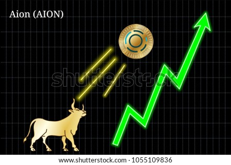 gold bull  throwing up aion