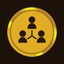 gold button icons, multilevel marketing business icons, icons that can be used for businesses, applications, and websites
