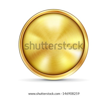 gold button texture rund
