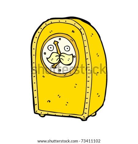 gold carriage clock cartoon