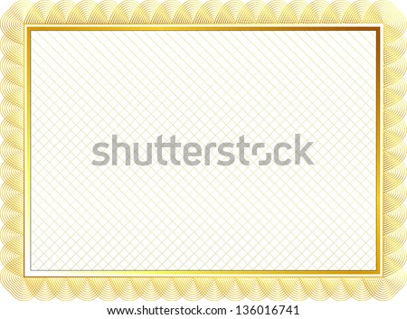 Elegant Diploma Or Certificate Award Template In Golden Style