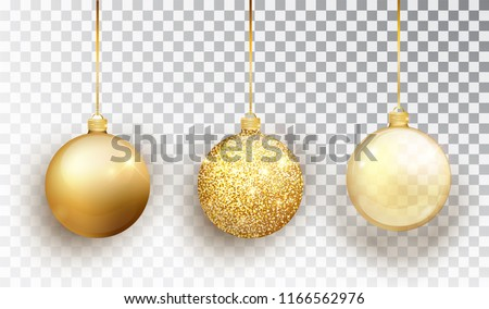 gold christmas tree toy set