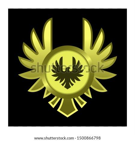 gold circle vector, emblem for gui.