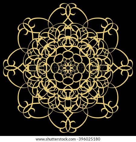 gold circular pattern