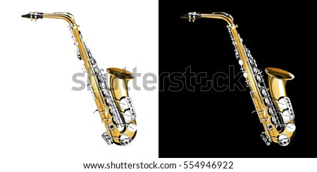 gold classical saxophone with