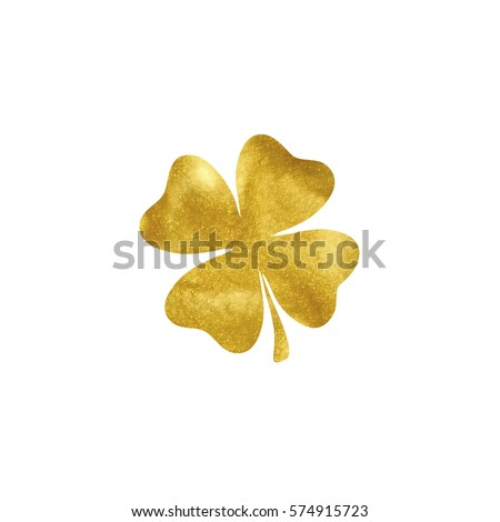 gold clover vector illustration