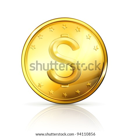Gold coin, vector
