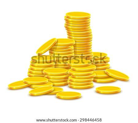 gold coins cash money in