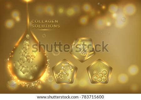 gold collagen serum drop