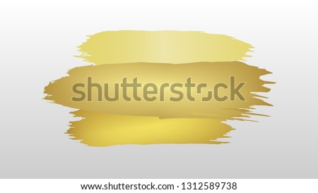 gold color paint pattern isolated background ( vector ) #1312589738
