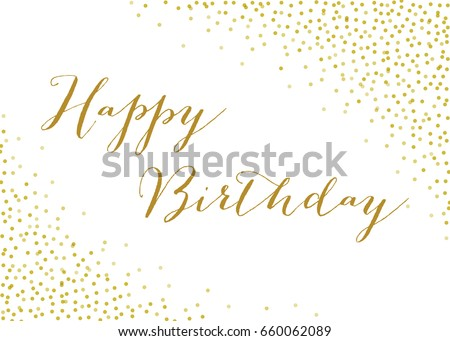 Gold Confetti Background - Vector Confetti Background. EPS 10 with transparency effects.