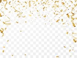 Gold confetti celebration.