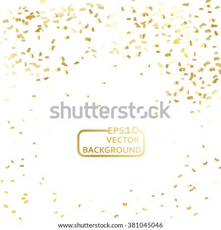 Gold confetti celebration background
