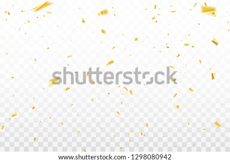 gold confetti Celebration carnival ribbons. luxury greeting rich card.